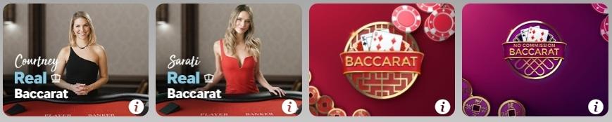 Betway Casino wähle dein Baccarat