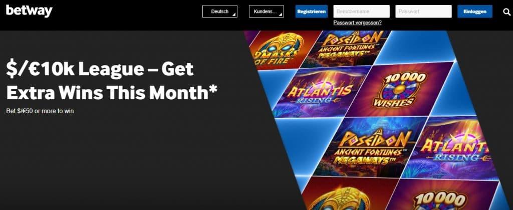 Betway Casino Bonus Programm